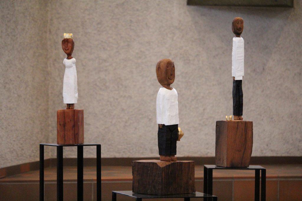 König*innen-Figuren von Ralf Knoblauch aus Bonn.